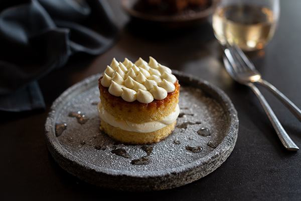 Almond Cake, Food Photography, Hospitality, Bistro Sociale