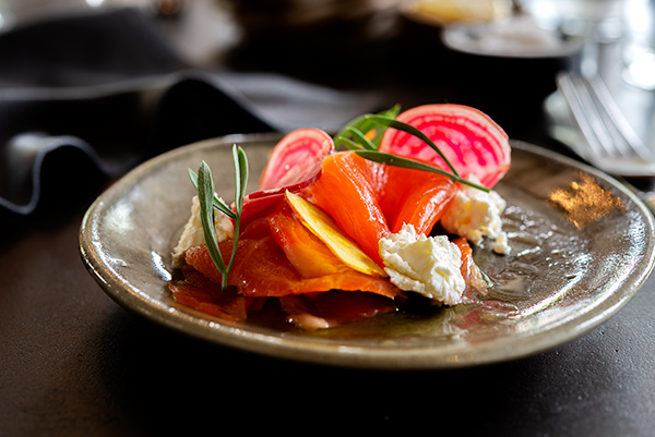 Gin Cured Ocean Trout, Food Photography, Hospitality, Bistro Sociale