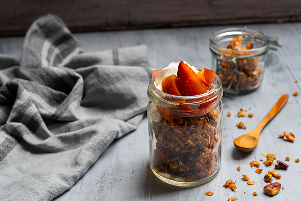 Granola with Poached Fruits, Food Photography, Goodman Fielder, Guy Adamson, Sydney Photographer